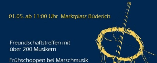 Maibaumsetzen beim Tambourkorps Büderich 1929 e.V.